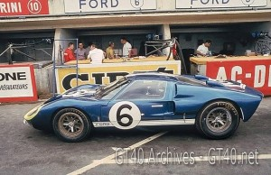 Andretti & Binanchi Ford GT40 Mk. II at Le Mans 1966