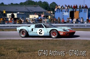 Gulf/Wyer Ford GT40 at Daytona 24 hrs