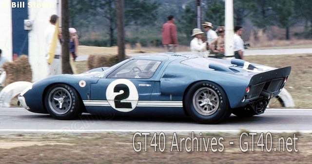 Dan Gurney's Ford Mk II at Sebring 1966