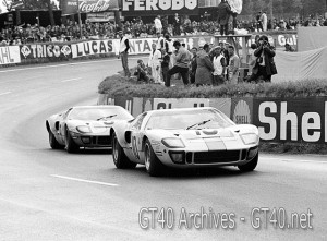 John Wyer Gulf Ford GT 40's at Le Mans 1968