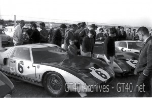 Ford GT 40's at the 1964 12 Hours of Reims