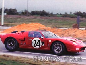 Graham Hill in the Alan Mann Ford GT40 at Sebring 1966